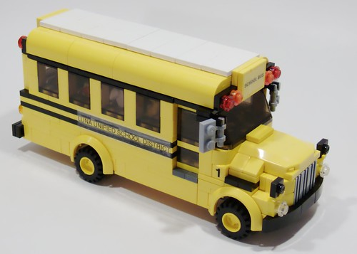 Wheeled School Bus - Right Front
