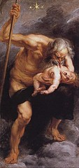 Saturn devouring his son by Rubens