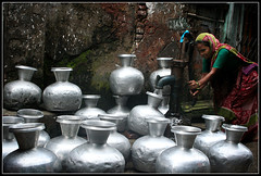 The New Oil [..Dhaka, Bangladesh..] (Catch the dream) Tags: people woman water metal silver community bongo lifestyle pots glossy push dailylife gush bengal bangladesh crisis bangla array bengali glistening dearth bangladeshi gushing scarcity olddhaka bangali tubewell scanty watercrisis waterscarcity newoil shakharibazar gettyimagesbangladeshq2