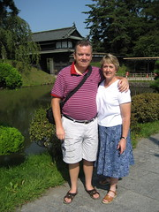 Mom and Dad in front of Hirosaki Park (jrkester) Tags: japan hirosaki 2008