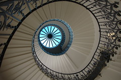 Composition: blue in the spiral (10b travelling) Tags: uk greatbritain iris england house abstract london eye ctb stairs composition spiral scotland europa europe stair unitedkingdom britain geometry greenwich nopeople explore queens staircase tulip ten blueeye ssss carsten nautilus brink 10b almostabstract cmtb tenbrink photoused