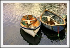 Two buckets in two boats (Nancy Rose) Tags: ocean water reflections boats novascotia pair atlantic buckets ropes peggyscove rowboats oars firstquality supershot abigfave infinestyle