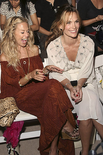 Rachel Zoe and Molly Sims at the Mercedes-Benz Fashion Week Spring 2008 - Temperley London - Front Row on September 8, 2007 in New York City.