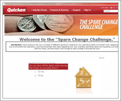 Quicken's Spare Change Challenge is the DIFF!