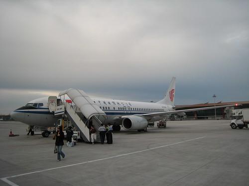 我們飛來的班機