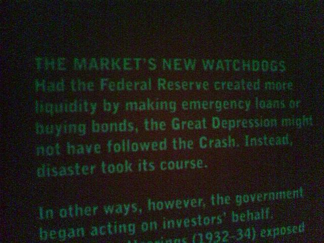 Liquidity might have prevented the depression