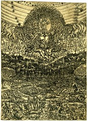 Judgement day, c.1550 (Kintzertorium) Tags: french dead christ cross jesus virgin angels engraving stmichael anonymous demons 1550 judgementday savedsouls kintzertorium