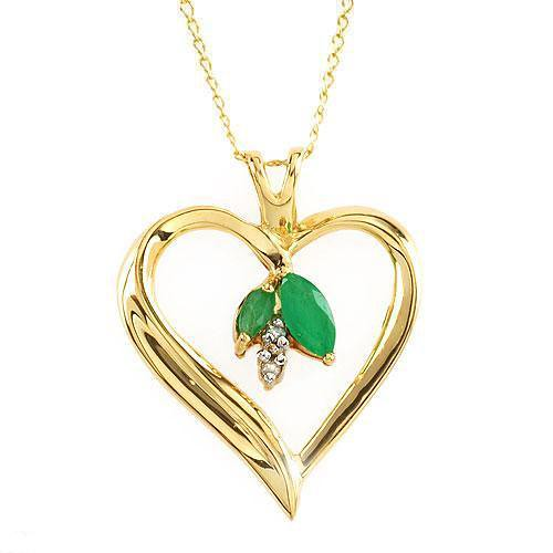 Emerald & Diamond Gold Pendant