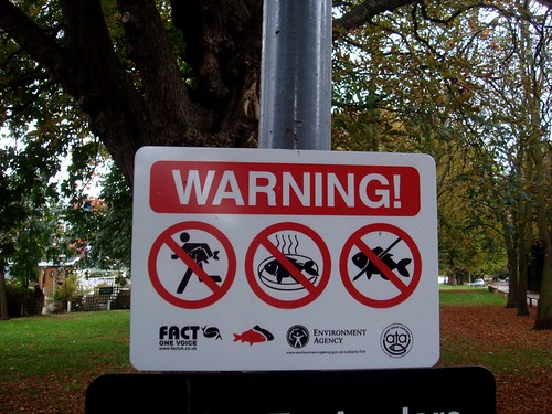 No running with fish, no smelly fish, no by waldopepper, on Flickr