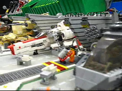 CHIEFLUG - THE MOTION PICTURE (olo) Tags: seattle toys video lego sunday explore bsg vipers brickcon chieflug nwbc08 brickcon08 battlestarrylactica