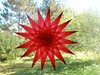 Red 16-point Sharp-pointed Star For Christmas, Valentine's Day, Or Winter Holidays