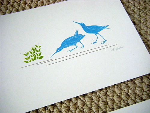 land birds gocco print by you.
