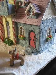 Gingerbread House 2008 (Stephanie (Cake Fixation)) Tags: rudolph gingerbreadhouse santascastle