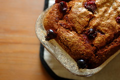 gooey pumpkin cranberry bread