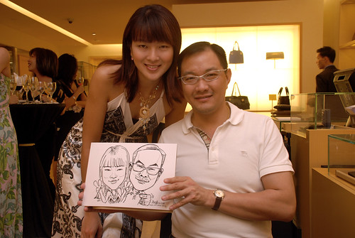 Caricature live sketching for Bulgari Christmas Brunch - 12
