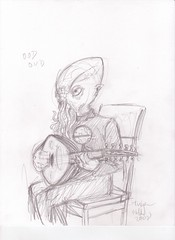 an Ood playing an oud (casio_beatnik) Tags: doctorwho oud ood