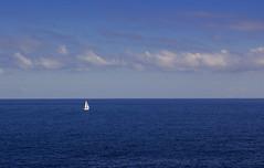 Sailing (albireo 2006) Tags: ocean blue sea wallpaper sky clouds boat mediterranean sailing yacht background malta sail