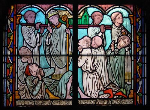 018- Vitral nº 18 claustro de Notre Dame de Paris