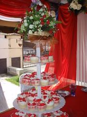 Farina's Wedding Cupcakes (miralisya) Tags: wedding red white for cupcakes farinas