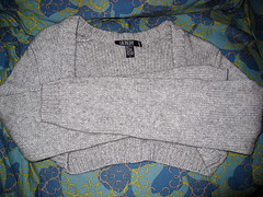 cotton cashmere shrug