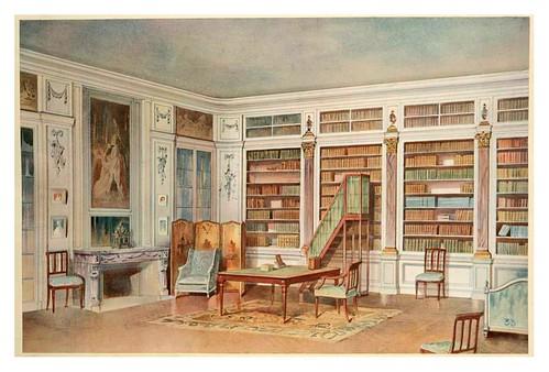 005- Biblioteca Luis XVI (tomada de un castillo en los alrededores de Alençon- acuarela 1907