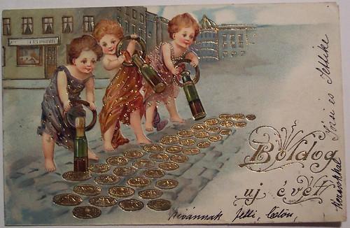 открытки новогодние картинки старинные
