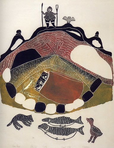 My books: An illustration in Inuit Women Artists