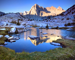 Picture Peak (Jeff Pang) Tags: sabrina mountain reflection water sunrise basin sierra granite tarn picturepeak sailorlake onearthnrdc