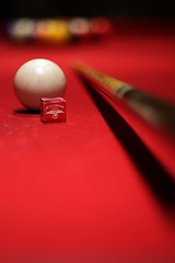 It's All About Angles & Preparation (jomak14) Tags: red canon dof bokeh billiards pooltable manualfocus eos30d pentaxm50mmf14 smcpm50mmf14 theunforgettablepictures kmounttoeosadapter