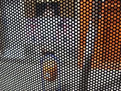 OoOoO (Rodrigo Uriartt) Tags: street city urban orange blur macro bus net window focus experimental chaos mayor laranja portoalegre dot equipment readymade caos pixel ur rua trashcan dots rede flou onibus prefeitura kaos derive fragments pontos contrasted cidadebaixa punctum lixeira nocut deriva busshot latadelixo windowfilter altphoto semcorte pontilism urbanchaos equipamentourbano urbanequipment ruriak seresrasteiros rodrigouriartt imagemiragem blindshoting disparocego platitudinarianbeings dotwindow behindthebuswindow