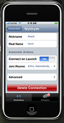 Mobile Colloquy Connection Settings 2