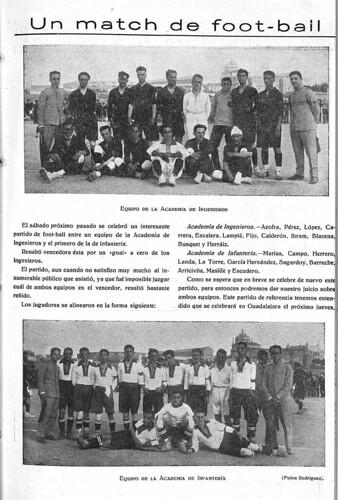 El Castellano, 1924. Crónica de un partido de fútbol en Toledo.