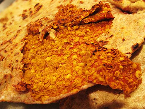 Lentil-stuffed Flatbreads