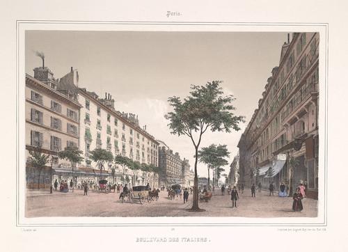 007- Paris- Boulevard de los Italianos 1858