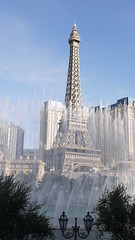 Paris Behind the Bellagio Fountains