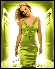 Britney Spears [ Golden Key ] ( Omar Rodriguez V.) Tags: door light art fashion rock glitter work gold lights golden photo glamour key doors dress princess spears silk pop queen sparkle fantasy glam satin sparks omar britney edit rodriguez jewel slave dorado oro corel slave4britney
