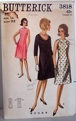 Vintage Butterick Pattern 3818 60s Jackie O Style A Line Dress Size 12 Bust 32 Waist 25 Hip 34 (Sassy By Design) Tags: she vintage flickr pattern sewing international cast etsy sewingpattern alinedress sassybydesign waist25 hip34 butterick3818 size12bust32