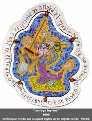 Courage fuyions (louisphilippevivien) Tags: painting paint rawart dessin peinture artbrut tableau toile peintre artsingulier figurationlibre louisphilippevivien