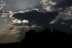 Sunset in Arches National Park (Bram Meijer) Tags: sunset clouds utah zonsondergang wolken arches avond archesnationalpark tegenlicht devilsgarden brammeijer