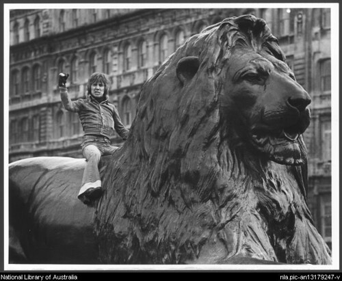 stevie wright atop a lion