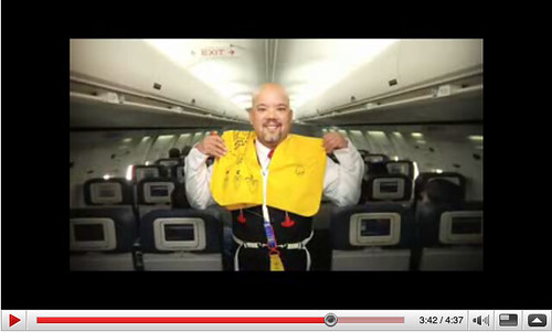 Delta Flight Safety Video Capture
