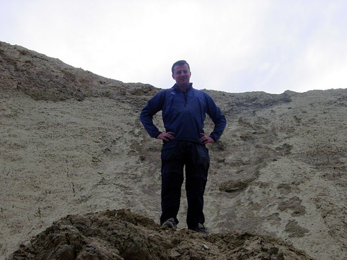 56 Irish Michael At Top of Collapsed Mud Cave (E)