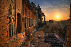 the ancient city has awoken (sadaiche (Peter Franc)) Tags: city morning travel archaeology sunrise temple golden ancient ruins cambodia stones angkorwat experience gods mystical spiritual complex hdr 1740 apsara mtmeru elitephotography 5dmkii