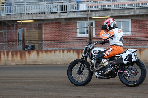 D&D Sponsored Flat Track Racers - 2009 Springfield Mile Chris Carr Racing