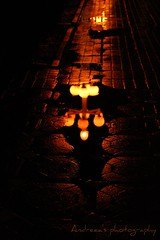 Only one road. (Robotzel) Tags: road reflection water night lights drops streetlamp canon1000d