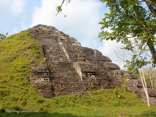 Covered Mayan Temple site in Tikal
