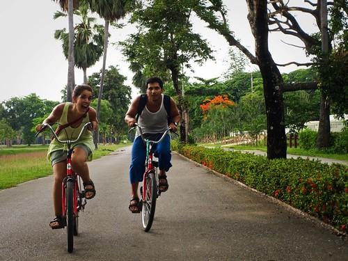 Paseando en bici