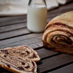 167|365 (Austin Tott) Tags: bread baking milk cinnamon swirl 365 raisin