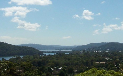 Phegans Bay & Brisbane Water from Timbertop Drive Woy Woy