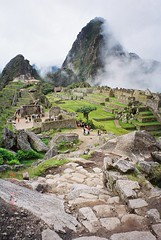 Approaching Misty Machu Picchu by Inca Trail, Peru